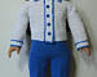 Designer Original Bell Bottom Pants Set #257  for American Girl &18 Inch Soft Body Dolls