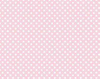 1 Yard Small Dot by Riley Blake Designs -C350-75 Baby Pink