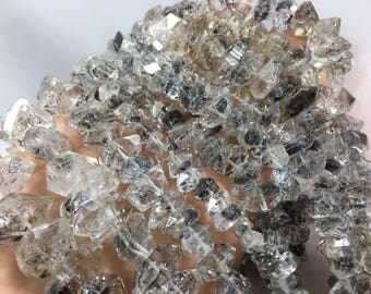 1 strand 42 cm lond herkimar double terminated drilled crystals@ST6