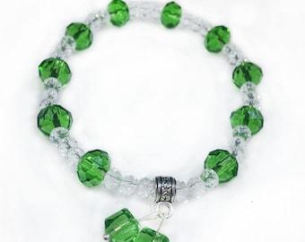Handmade Swarovski Beaded Bracelet, Multi Color Swarovski,Crystal Beads, Gift for Her,Jewelry,Birthday Gift,Valentines Gift,Mothers day gift