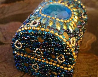 Beaded blue box