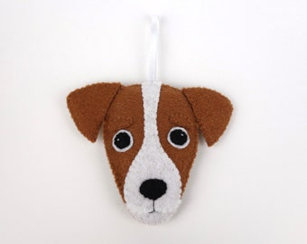 Felt Dog Ornament - Jack Russell
