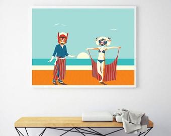 Happy Soul, Digital art, illustration print.