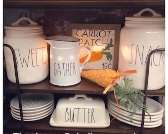 Decal Only~Rae Dunn Inspired Warmer Vinyl Decal~Rae Dunn Decal~Farmhouse Decor~Home Decor~Prairie Pitcher~Warmer Decal~Gather~Y'all