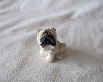 Vintage Miniature Bulldog Dog Collector Resin