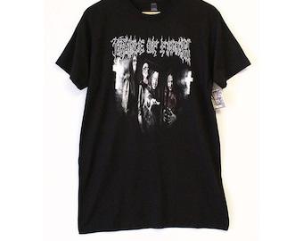 Cradle of Filth Crosses Black T-shirt- Size Men's Medium (Cotton)