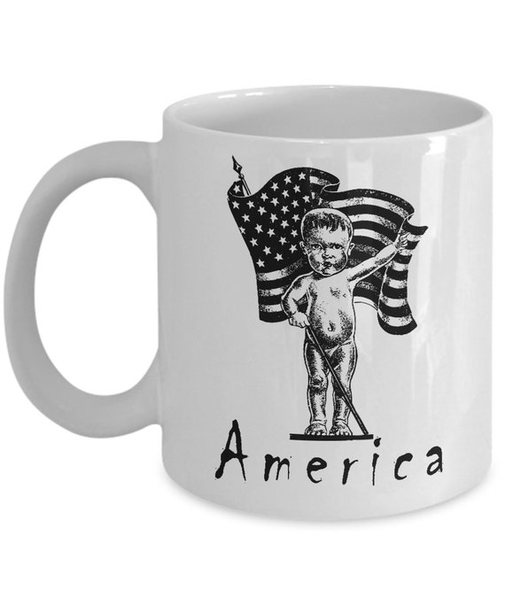 Patriotic Baby America 11oz White Coffee Mug