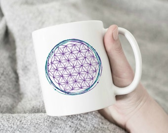 Flower of Life |  Boho Mug, Shaman, Unique Mugs, Buddhism, Sacred Geometry, Gypsy, Shamanic, Totem, Goddess, Ancient, tribal, bohemian