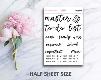 DIY Master To-Do List Stickers (perfect for bullet journals)