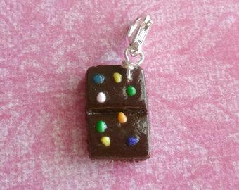 Cosmic Brownie Food Charm Miniature Food Polymer Clay Food Charms
