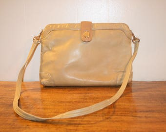 Vintage Leather Purse,leather purse,leather shoulder bag,leather purse,leather bag,leather handbag,leather bags women,beige purse,purse