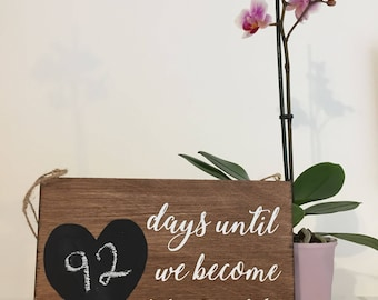 Wedding Count Down, Chalk Board Count Down, Engagement Gift