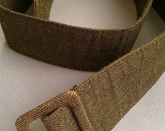 Linen belt, Women's belt, Belts, Vintage belt 80s,