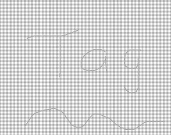 Light Grey Gingham Cardstock Paper