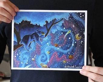 Bear Sleeping in a Tree; Fine Art Print