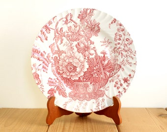 "FREE SHIPPING Victorian Inspired Plate ""Charlotte"" by Royal Crownford - original illustration circa 1830."