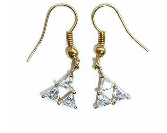 Legend of Zelda Triforce Earrings - Studs and Dangle
