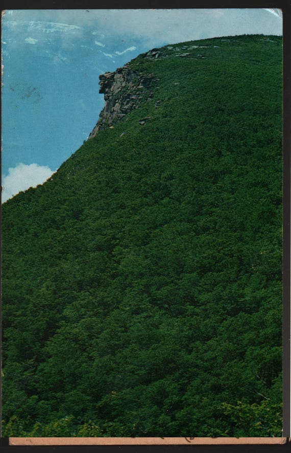 Old Man of the Mountains + Franconia Notch, New Hampshire + Vintage Souvenir Postcard