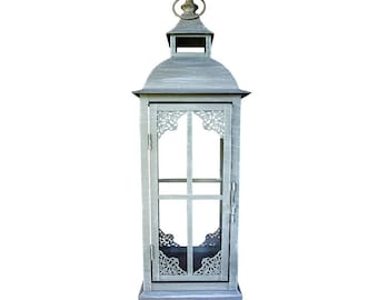 Antique gray metal lantern with medium hook. 53.13.77 MEDIA 9R-E4UI-0PVF