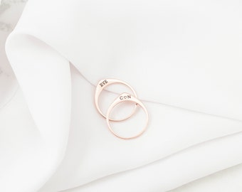 Custom TearDrop Ring • Personalized Stacking Ring • Custom Minimalist Ring • TearDrop Ring • Initial Ring • VALENTINES GIFTS •  RM36F41