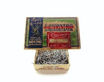 Vintage Box of 1930s Prym's Super Steel Sonomor Steel Pins / With Pins