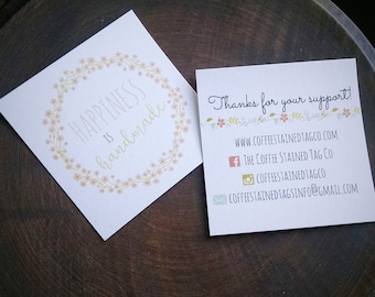 Custom Printed Social Media/ Customer Care Cards, set of 100 cards