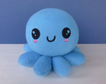 Kawaii Boy Octopus:  Blue