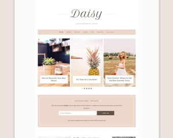 Daisy WordPress Theme • Genesis Child Theme • Responsive WordPress Theme • Feminine WordPress Theme • WordPress Template • Blog Template