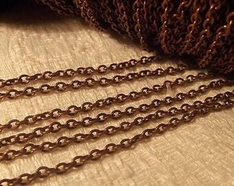 Chain, Antique Copper, 3X2mm, 6 feet