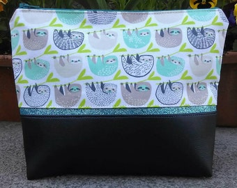 Sloth cosmetic bag