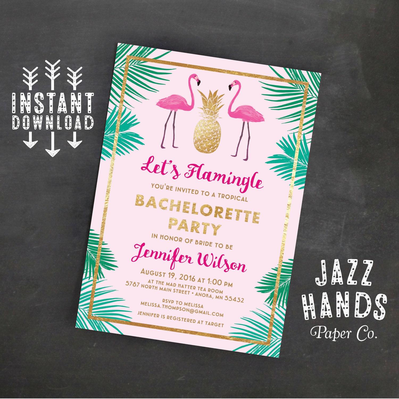 Lets flamingle printable bachelorette invitation template zoom stopboris Choice Image
