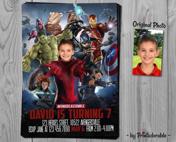 Spiderman Invitation - Avengers Invite - Amazing Spiderman - Infinity Wars Invite - Spider Man Invite - Avengers