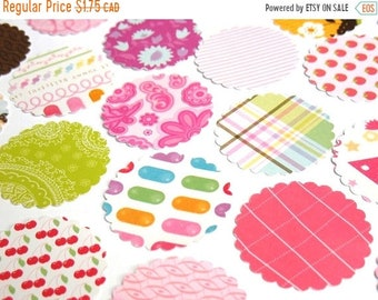 50% OFF - The Sweet - DCWV Scalloped Round Die Cuts