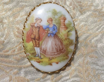 Vintage Fragonard-Inspired Brooch