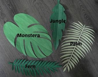 12 Extra Large Tropical Leaves , DIY Safari Decor, Jungle Party Theme, Safari Theme, Safari Backdrop, Tropical Backdrop