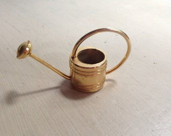 Tiny Brass Watering Can Fairy Garden Doll House