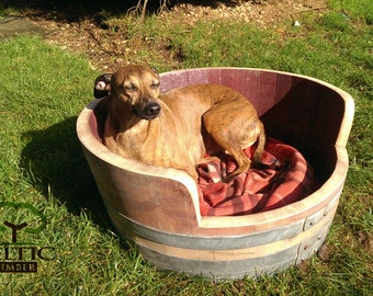 Wine Barrel Dog Bed / Cat Bed. Made to Order for Your Pet
