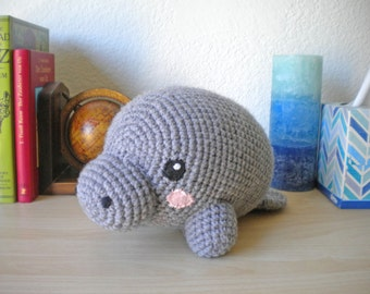 Crochet Manatee Stuffed Animal