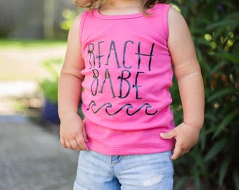 Limited! Beach Babe Girls' Tank Top / Toddler & Baby