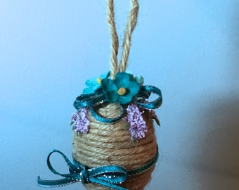 Natural Jute Spring Egg - Small
