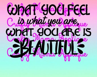 What you feel is what you are, SVG, PNG, JPG files