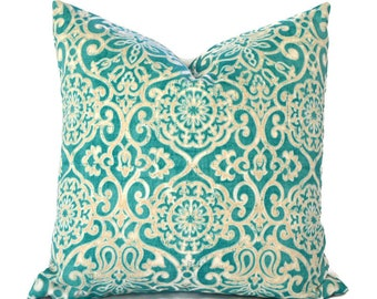 Outdoor Pillows Pillow Covers Decorative Pillows ANY SIZE Pillow Cover Outdoor Bryant Miranda Turquoise