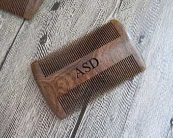 Sandalwood Personalized Comb,Engraved wood comb,Custom Wooden Comb, Beard Comb, Hair Comb,Boyfriend Gift,Husband Gift,Gifts for Dad