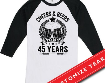 45th Birthday Raglan
