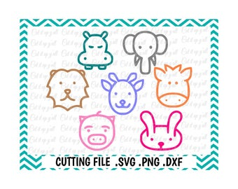 Baby Animals Cutting Files, Svg-Dxf-Png-Fcm, Cut Files For Silhouette Cameo/ Cricut, Svg Download.