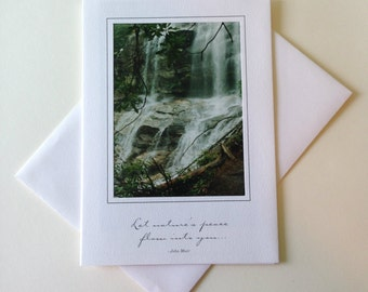 Misty Downfall Photo Note Card Blank Inside Inspirational Quote