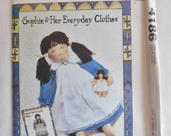 2003 McCalls Craft Pattern 4186 Doll & clothes UNCUT