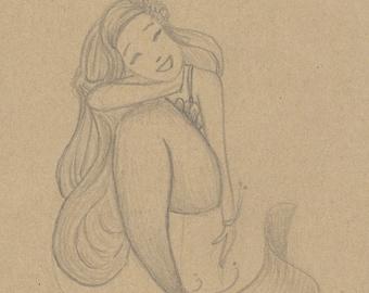 ORIGINAL Sketch Mermaid