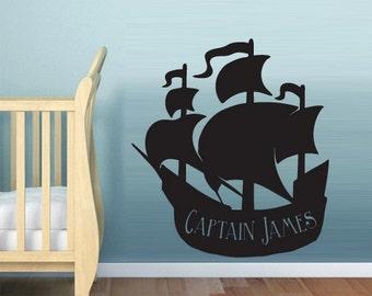 ship wall decal ship wall decor ship wall art ship wall stickers pirate ship wall decal pirate ship wall stickers (Z604)