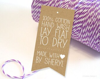 Product Tags Printable Kraft Style Digital PDF Personalized Customized Seller Info